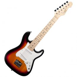 Guitarra Infantil Strato VCG120YS 6 Cordas Amarelo Sunburst Vogga