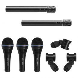 Microfones c/ Fio p/ Bateria (5 Unidades) - D 707 S Yoga