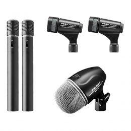 Microfones c/ Fio p/ Bateria (5 Unidades) - FX DK 5 Yoga