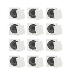 Kit de arandela Quadrada Full Range KIT220312 6 Polegadas 30W Fiamon (12 UN)