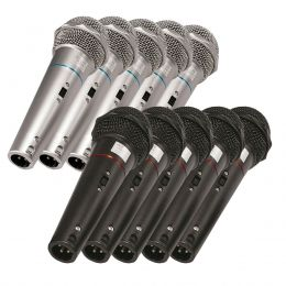 Kit com 10 Microfones de Mão VOXCSR505KIT10 Dinâmico Voxtron