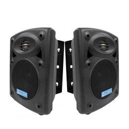 KIT Stereo com Caixa Ativa + Caixa Passiva Falante 5 polegadas 30W c/ Suporte - CACP 2017 CSR