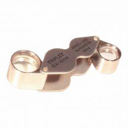 Lupa de Bolso c/ 2 Lentes (18mm e 12mm) - MG 22181 CSR
