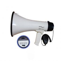 Megafone 1503X 15W com Sirene e Gravação SoundVoice
