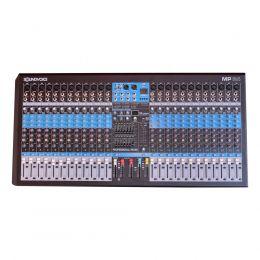 Mesa de Som 24 Canais Balanceados XLR com USB Play / Efeito / Phantom / 2 Auxiliares - SoundVoice
