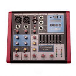 Mesa de Som MC4EUX 4 Canais USB SoundVoice