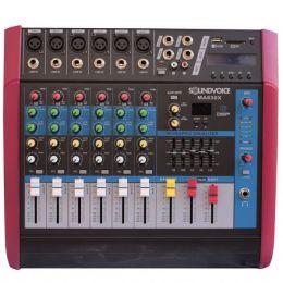 Mesa de Som Amplificada 500W 4 OHMS MA630X 6 Canais Mono Soundvoice