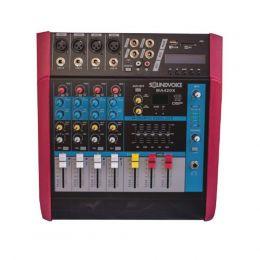 Mesa de Som Amplificada 400W 4 OHMS MA420X 4 Canais Soundvoice