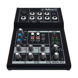 Mesa de Som Mackie 5 Canais (1 XLR Balanceados + 4 P10 Desbalanceados) Mix5