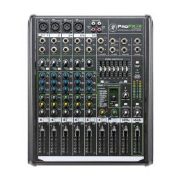 Mesa de Som Mackie 8 Canais (4 XLR Balanceados + 2 P10 Desbalanceados) Equalizador / Efeitos PROFX8V2