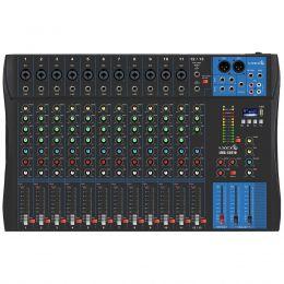 Mesa de Som 13 Canais Balanceados (11 XLR + 2 P10) c/ USB / Phantom / 1 Auxiliar - LMG 1301 U Lyco