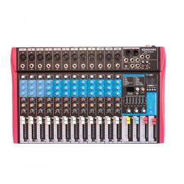 Mesa de Som MS122EUX 12 Canais Mono XLR/P10 Balanceados SoundVoice