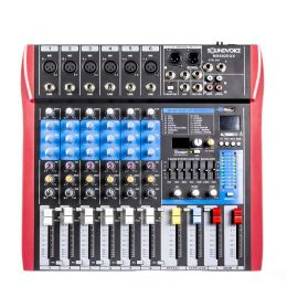 Mesa de Som MS602EUX 6 Canais Soundvoice
