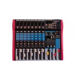 Mesa de Som MS802EUX 8 Canais Mono XLR/P10 Balanceados SoundVoice