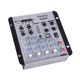 Mesa de Som Nanomix 4 canais LL Audio NA502R BT