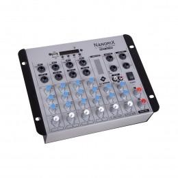 Mesa de Som Nanomix 6 canais LL Audio NA702R BT