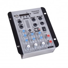 Mesa de Som Nanomix 2 canais LL Audio NA 302 R BT