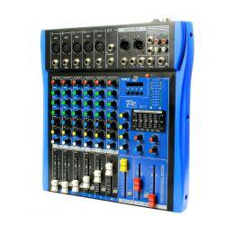 Mesa de Som PZ 7 Canais (5 XLR Balanceados + 2 P10 Desbalanceados) c/ Phantom / USB / Bluetooth 1 Auxiliares PZST7