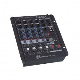 Mesa de Som Starmix 4 canais LL Audio S402R