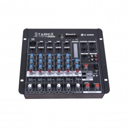Mesa de Som Starmix 6 canais LL Audio S602R BT