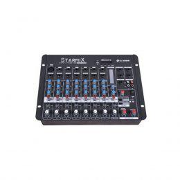 Mesa de Som Starmix 8 canais LL Audio S802R BT