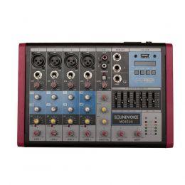 Mesa de Som USB MS6EUX 6 Canais EQ 7 Bandas Soundvoice