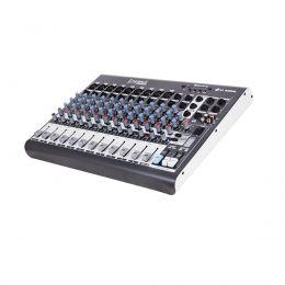 Mesa de Som LL Audio 12 Canais (9 XLR Balanceados + 2 P10 Desbalanceados) XMS1202D