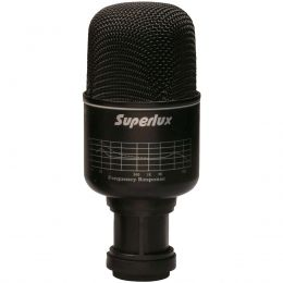 Microfone c/ Fio Dinâmico p/ Bumbo - PRA 218 B Superlux