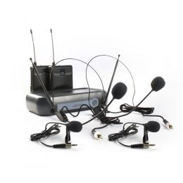 Microfone duplo sem fio Lyco Headset / Lapela VHF Lyco VH02MAX-HLHL
