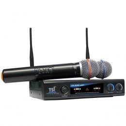 Microfone s/ Fio de Mão Duplo UHF - UD 800 UHF TSI