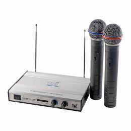Microfone s/ Fio de Mão Duplo VHF - MS 420 TSI