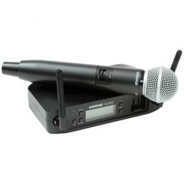 Microfone s/ Fio de Mão - GLXD 24 BR / SM 58 Shure