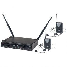 Microfone s/ Fio Duplo Headset / Lapela / Instrumento / UHF - UH 02 HLI HLI Lyco