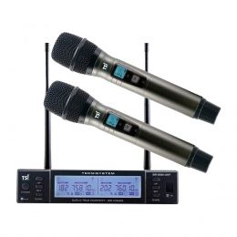 Microfone sem Fio de Mão Duplo BR 8000 UHF - TSI