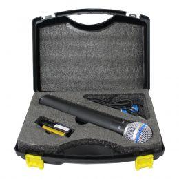 Microfone sem Fio de Mão UHF 100 canais USB X1 TSI