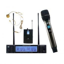 Microfone Sem Fio Headset e Mão BR 8000 CLI UHF - TSI