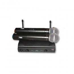 Microfone Sem Fio Mão Duplo UHF JWL U-585