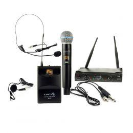 Microfone sem Fio UH-08MHLI Duplo 52 Frequências  - Lyco