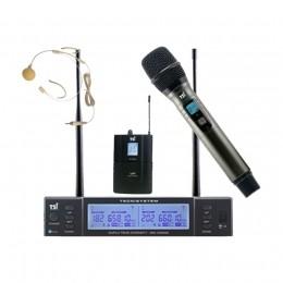 Microfone TSI BR1800 UHF Sem Fio Mão e Headset