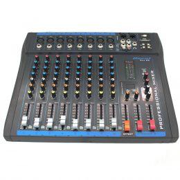 Mesa de Som 8 Canais XLR Balanceados c/ USB / Efeito / Phantom / 1 Auxiliar - OMX 82 Oneal