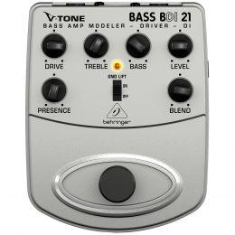 Pedal Behringer DI BDI 21  com Pré Amplificador P/ Contrabaixo V-Tone Bass Driver