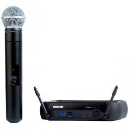 Microfone sem Fio PGXD24BR/SM58 de Mão 24 Bits Shure
