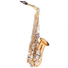 Saxofone Alto WASM49 EB Duplo Dourado e Chaves Niqueladas - Michael