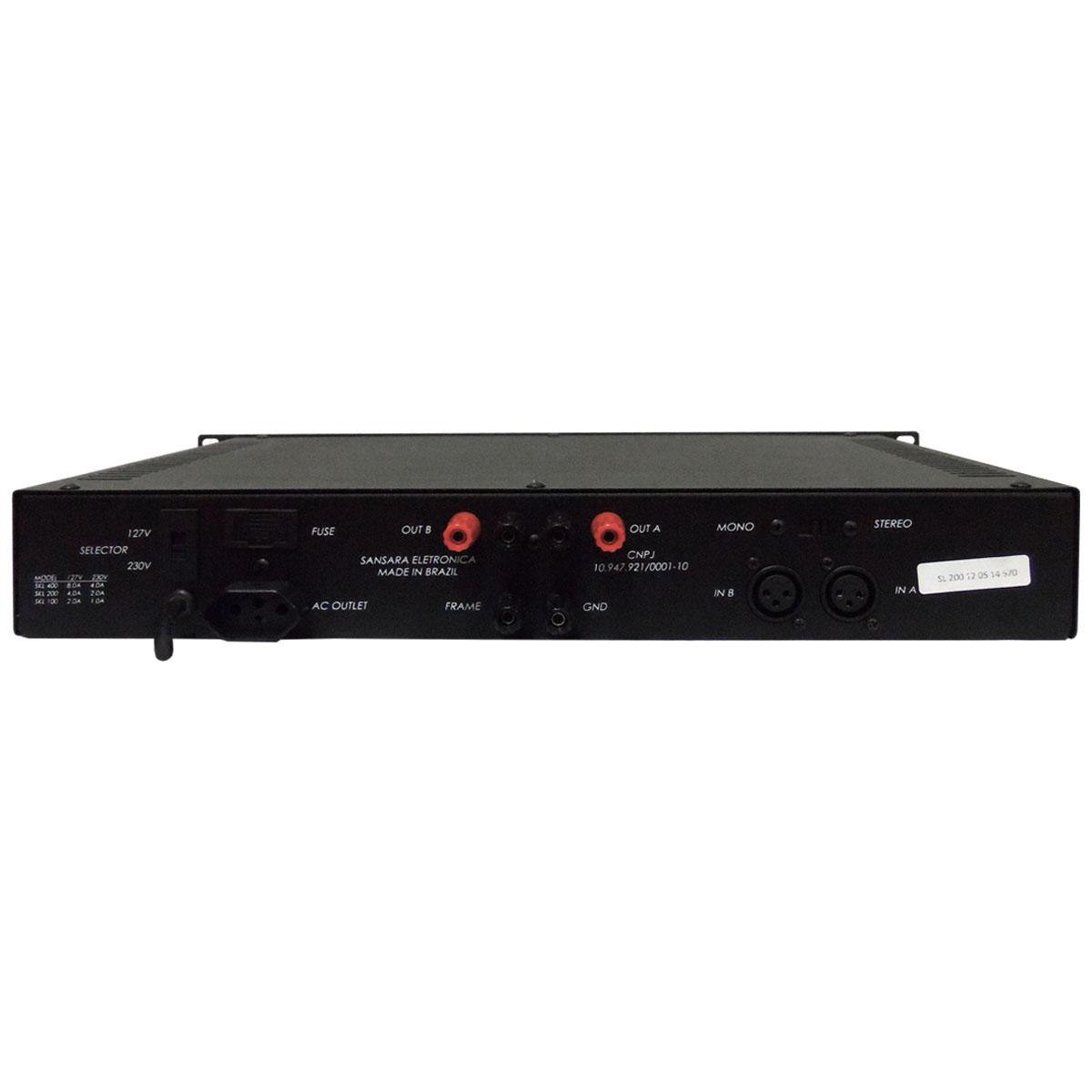 Amplificador de Linha 200W 50 Ohms - SL 200 Sansara