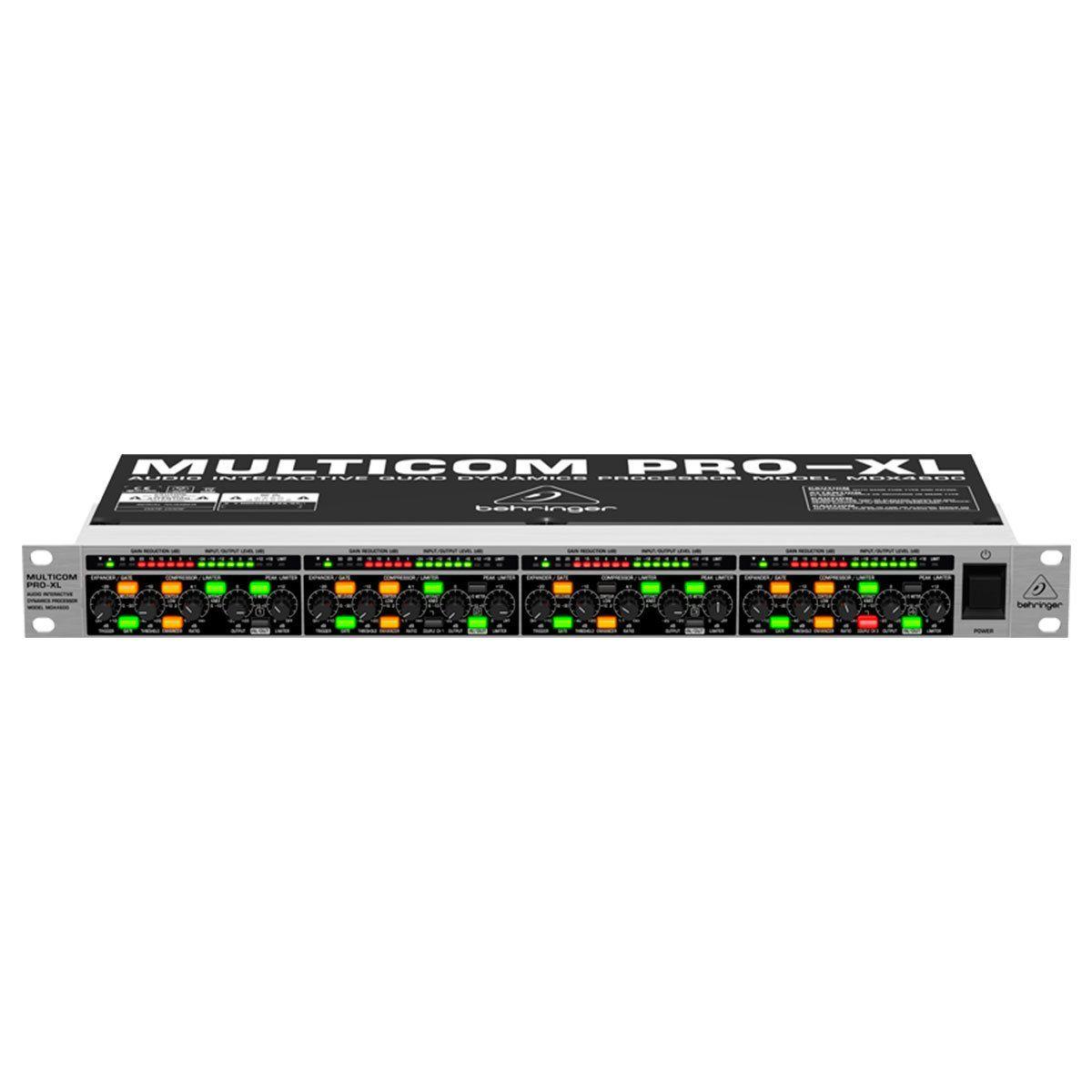 MDX4600 - Compressor 4 Canais Multicom PRO XL MDX 4600 - Behringer