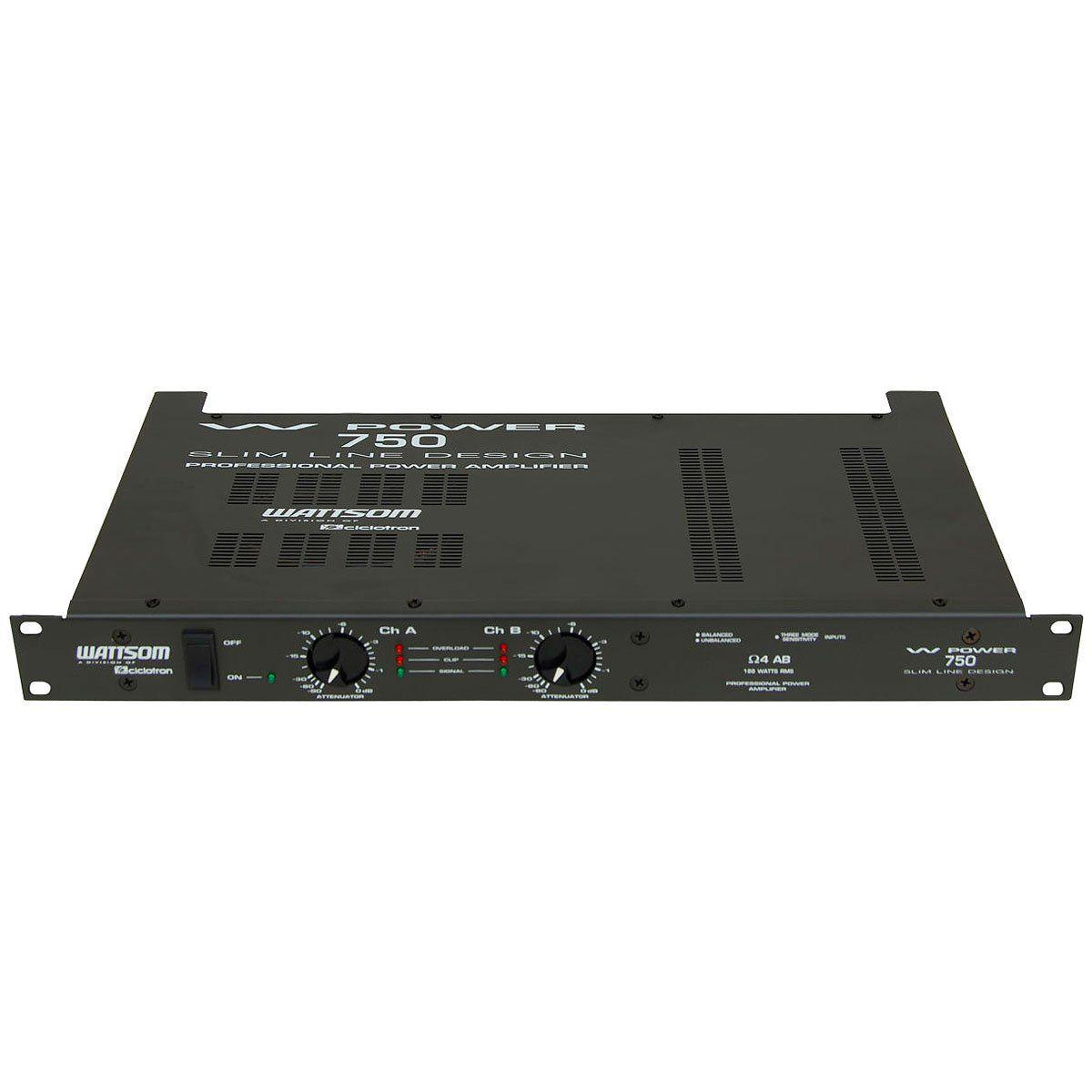 Amplificador de Potência 188W 4 Ohms - W POWER 750 Ciclotron