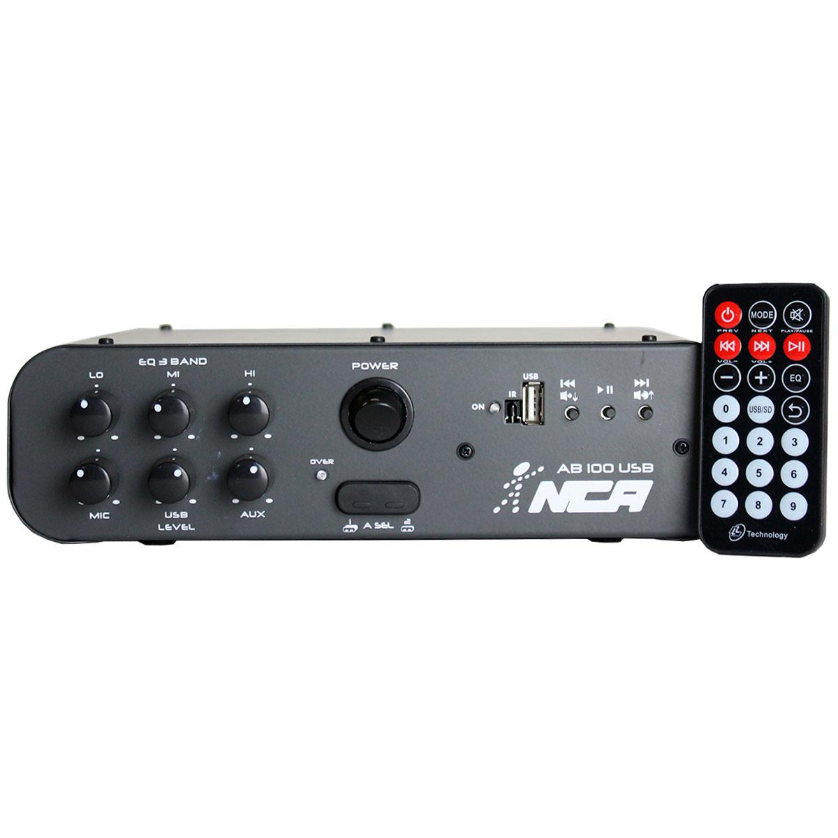 Amplificador Ab100 Usb 100w Rms Nca