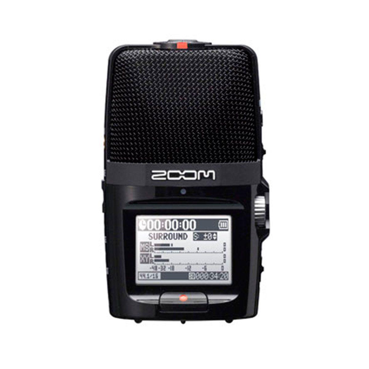 Gravador Digital 24 Bits 2 Canal - H 2 n Zoom