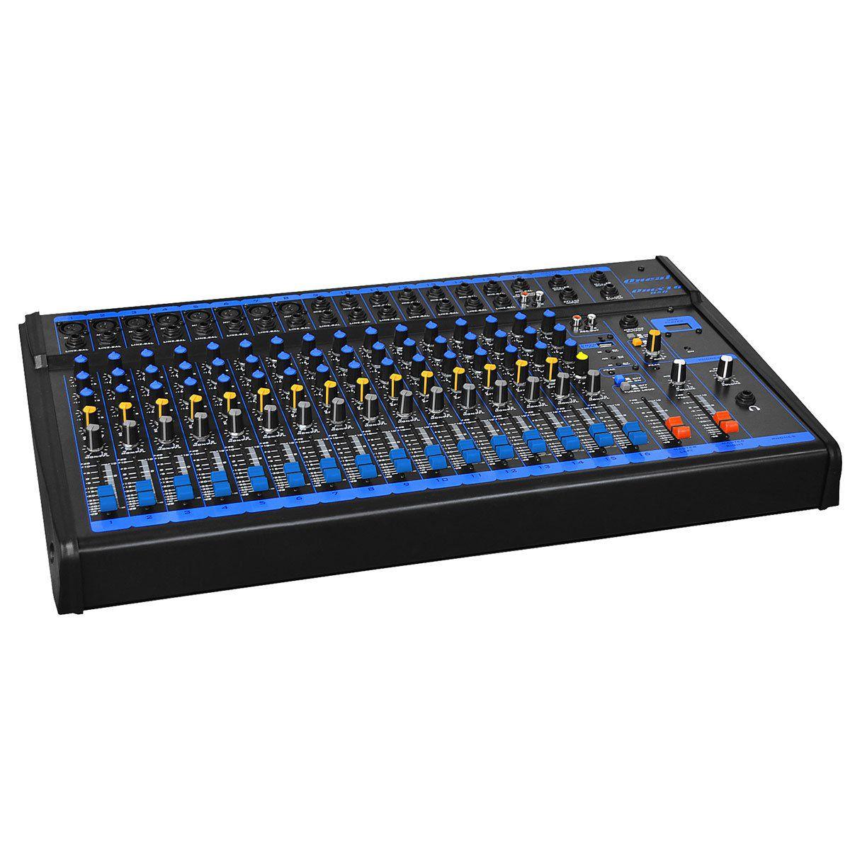 Mesa de Som 16 Canais XLR Balanceados c/ USB - OMX 16 USB Oneal
