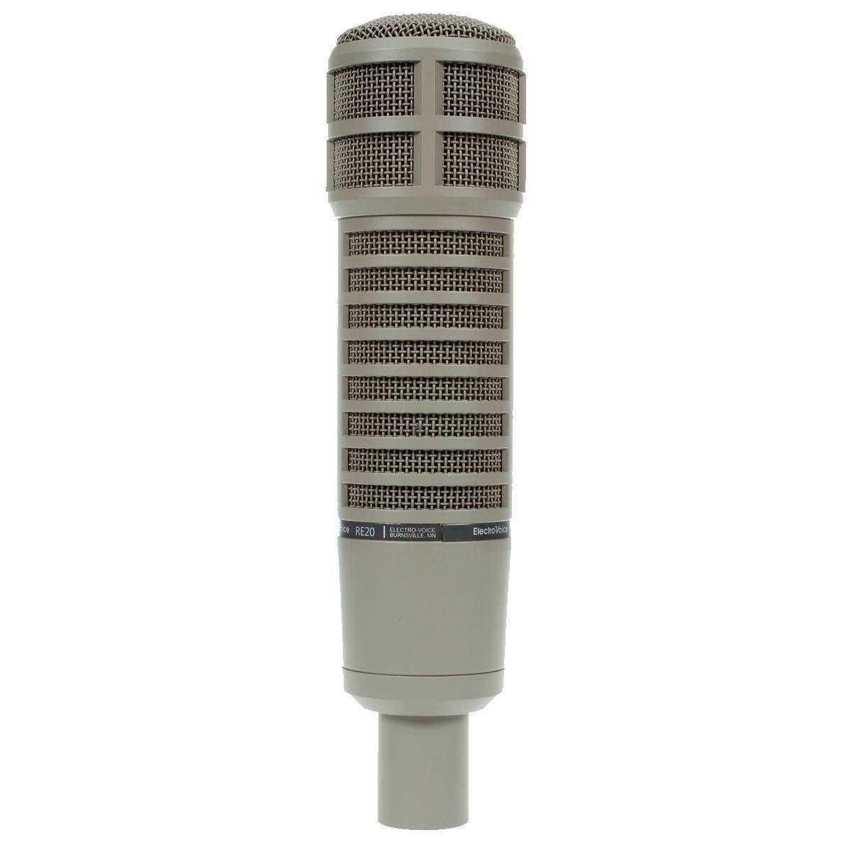 Microfone c/ Fio Dinâmico p/ Estudio - RE 20 Electro Voice